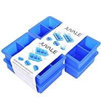 Big Ice Cube Tray - Silicone - 4 Piece Set - Blue