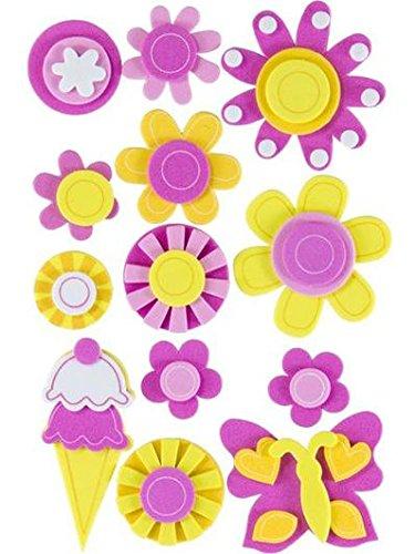 Adhesivos de goma eva 3D flors roses