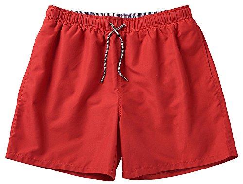 Nordcap NCXtreme Herren Badeshort/Badehose, Männer Schwimmhose mit vielen Taschen, schnelltrocknend und Ultraleicht (Größen: M - 4XL, Farbe: Rot)