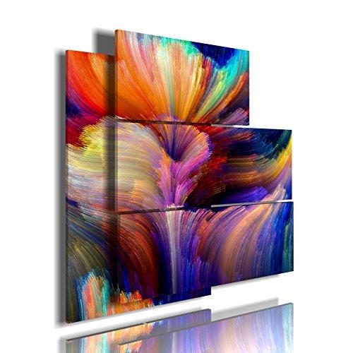 quadro moderno astratto 17 multilivello 3d quadri moderni fiori