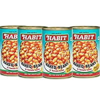 Habit Baked Beans in Tomato Sauce, 450g [Pack of 4]