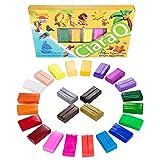 CiaraQ Polymer Clay 24 Couleurs Four Cuire BRICOLAGE Argile Colorée Sûr et Non-toxique Doux Moulage Artisanat Set, Meilleur Cadeau pour Enfants