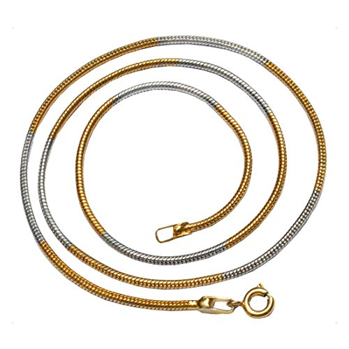 Sullery 2 mm Thickness Snake Chain Necklace Gold Stainless Steel Chain