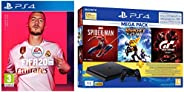 PS4 1TB Slim Bundled with Spider-Man, GTaSport, Ratchet & Clank And PSN 3Month&Fifa