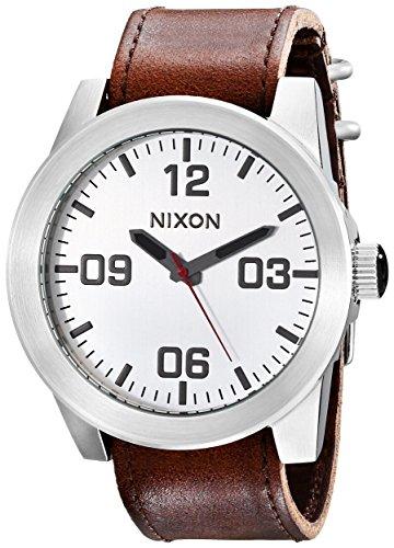 nixon-a2431113-00-montre-homme-quartz-analogique-bracelet-cuir-marron