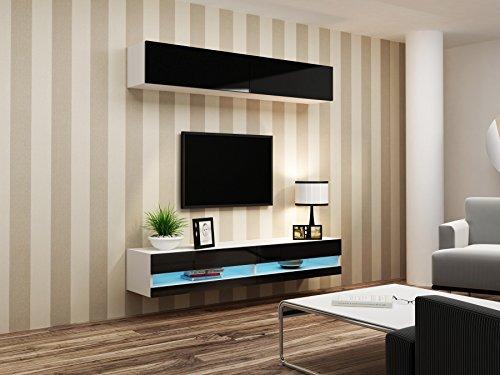Wohnwand VIGO NEW 10, Anbauwand, Wohnzimmer Möbel, Hochglanz !!! Mit LED Beleuchtung !!! - 2