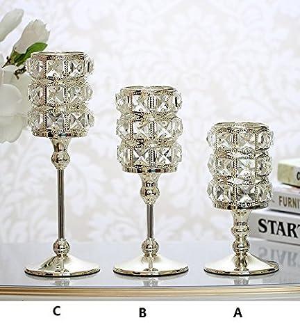 moderne wohnzimmer dekor inneneinrichtungsgegenstände kreative crystal kerzenständer tabelle kreativen schmuck,10 * 20cm
