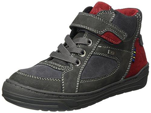 Lurchi Jungen Barney-Tex Hohe Sneaker, Grau (Charcoal RED), 38 EU