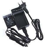 DSTE Rechange Batterie et DC111E Voyage Chargeur pour Nikon EN-EL14ENEL14EN-EL14a/DF D3100D3200D3300D5100D5200D5300D5500P7000P7100P7200P7700P7800Caméra