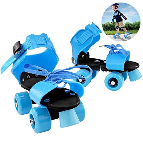 Yuanj Patins à roulettes, Bleu, Rollers Patins Reglables pour Débutant/Tout-Petits Filles/Jeunesse, Cadeau Parfait pour Les Enfants (Bleu)