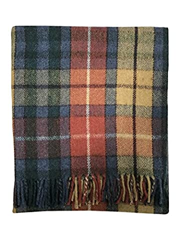 Scottish Highland Tartan Tweeds 100% Wolle Tartan Teppich Decke/11 Tartans erhältlich Buchanan Antique