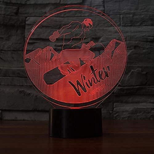 Snowboard Modell Optische Täuschung Lampe Led 3D Lampe Nachtlicht Acryl Atmosphäre Lampe 7 Farbe Moderne Lampe