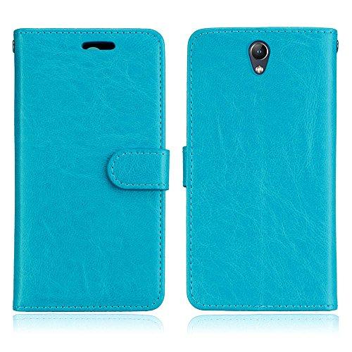 Cozy Hut Lenovo Vibe S1 Hülle Case Premium PU Leder Schutztasche [3 Card Slots Wallet Case] [Magnetverschluss] [Standfunktion] Handyhüllen Für Lenovo Vibe S1 - Reines Blau