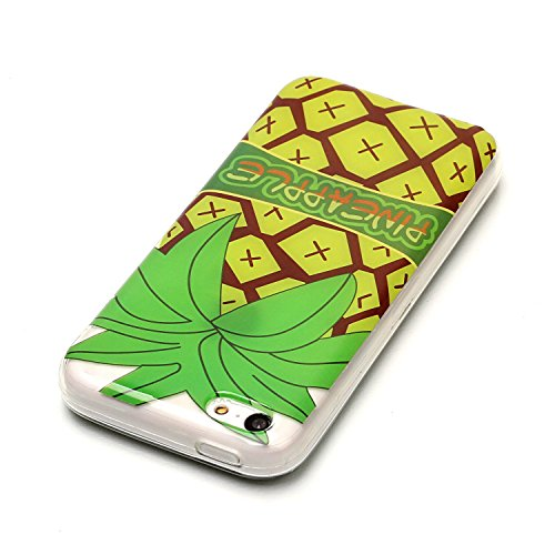 JAWSEU Coque Coquille Housse Étui pour iPhone 5C,iPhone 5C Etui Transparent,iPhone 5C Case en Silicone,Ultra Mince Cristal Clair en Souple Gel Bumper Protecteur Téléphone Coque Etui,Luxe Mode Élégant  Gros ananas