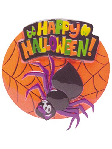 Happy Halloween Spider Web Decorative Cake Topper by Bakery Crafts