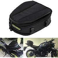 JFG RACING - Bolsa de Transporte para Motocicleta, Impermeable, Bolsa de Asiento para Motocicleta, sillín de Piel sintética, Multifuncional, Mochila Deportiva, 15 litros