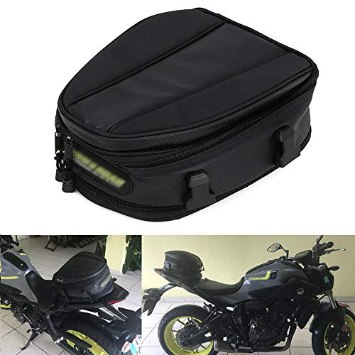 JFG RACING Bolsas de Asiento para Motocicleta, Impermeable, sillín de Piel sintética,...