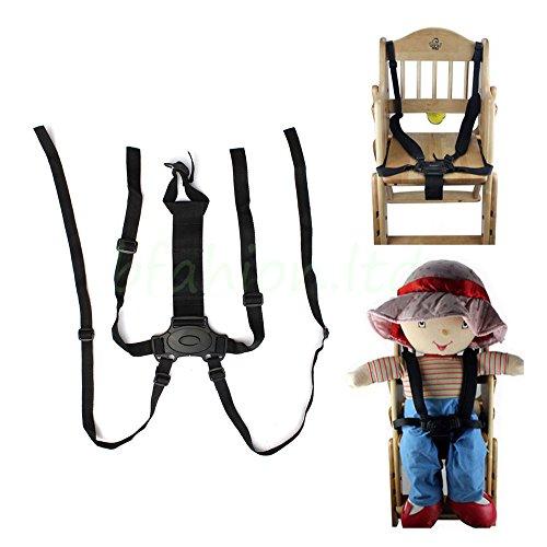 Malayas Ceinture Sécurité de Chaise Haute Bébé/Enfant, Harnais/Sangle Réglable de Poussette/Chaise - Voyage Ceinture Siège/Poussette/Filet Protection
