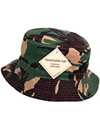 Adults Green Camouflage Reversible Bush/Bucket Hat Available In 3 Sizes Quality