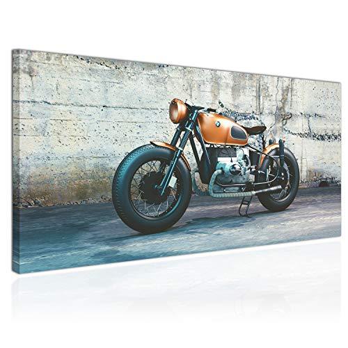 Topquadro Quadro XXL, Stampa su Tela 100x50cm, Moto BMW, Motori - Decorazioni Interni, Immagine Panoramica - Pronto da Appendere