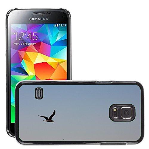 Grand Phone Cases Bild Hart Handy Schwarz Schutz Case Cover Schale Etui // M00142448 Vogelschwingenförmig Fly Sky // Samsung Galaxy S5 MINI SM-G800 (Fly Cover Samsung S5 Mini)