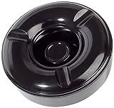 Cartaffini - Posacenere in melamina anti vento con coperchio - Colore: Nero