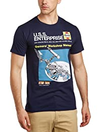 Star Trek Men's USS Enterprise Haynes Manual Crew Neck Short Sleeve T-Shirt