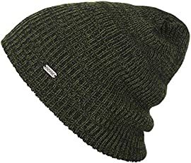 Noise NOICAPWNTR047 Polyester Olive Streak Knitted Beanie, Adult (Olive)
