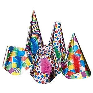 Carnival Toys 4426-Set de Fiesta, Universal, 50Grandes Metallic Papel Sombreros en Caja, Oro/Plata