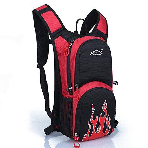 Tofern Multiuso 12 Litri Zaino da Trekking Outdoor Donna e Uomo Unisex Impermeabile per Campeggio Ciclismo Escursionismo Sci Pesca Borsa da Viaggio Zainetto, Rosso rosso