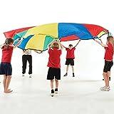 CreativeMindsUK Regenbogen-Fallschirm, 7,3 m Durchmesser