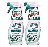 Sanytol Deodorante disinfettante per tessili odori di animali-set di 2