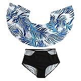 Bfmyxgs Frauen Stilvolle Hohe Taille Gedruckt Bikini Sexy Set Push-Up Gepolsterte Bademode Badeanzug Monokini