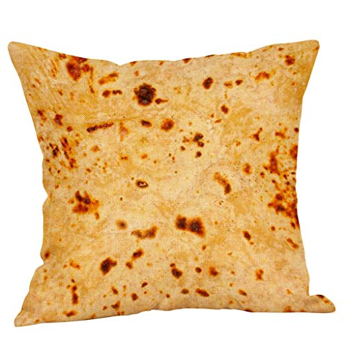Dtuta Pancake Pillow Case, Burrito Wrap Upholstery Cushion Set Comodo Throw Food Decorazione Creativa Cuscino Home Sofa Comfort Car Cushion