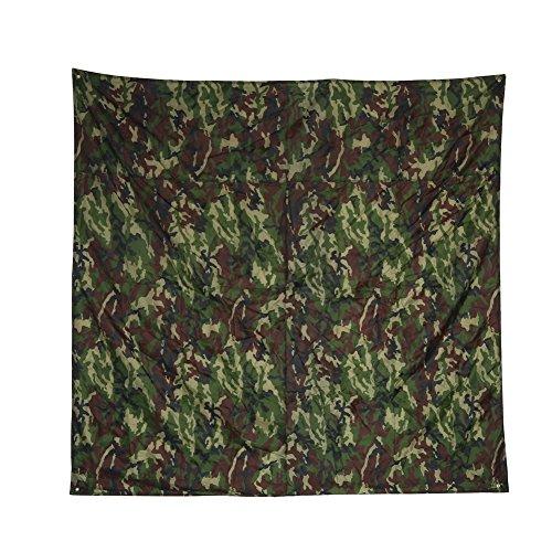 Alomejor Camouflage Outdoor Regendicht Matte, leicht tragbar raintent Plane Sonnenschutz Shelter Camping Matte 3Größen, 3 * 2.9m/9.8 * 9.5