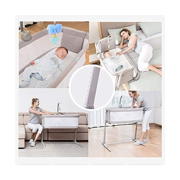 LXZ Baby Diaper Table, Portable Pillow Crib, Splicing Bed, Multi-functional Baby Bed, Newborn Cot, Small Size, Save Space LXZ The mattress cover adopts exclusive protective material. The dense structure effectively blocks dust, keeps the baby away from the respiratory tract and sensitive skin, and is waterproof and dry The crib on the mother's pillow, the baby and the parents sleep and are independent of each other, and the safety and sleep quality are improved simultaneously. C-shaped barrier-free skeleton + bed design, accessible for baby, break the distance, timely comfort, convenient night care 7