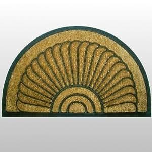 ProPassione Paillasson en fibre de Coco et caoutchouc large, moules avec envers antidérapant, semi-circulaire Dimensions: 100 x 60 cm