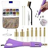 Hotfix - Kit de herramientas para aplicador, incluye 7 puntas de diferentes tamaños, pinzas, cepillo de limpieza, 2 lápices y diamantes de imitación