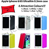 6 x Safeseed® ultra thin case for Apple Iphone 6 6S mobile phone back cover 0.3 mm Combo Offer Attractive 6 Color Cases PCS
