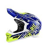 O'Neal Fury RL Helm Fuel Blau Neon Gelb Hi-Viz Fidlock DH FR MTB Downhill Fahrrad, 0499-50, Größe M (57 - 58 cm)