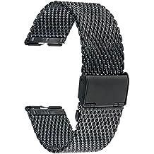 TRUMiRR Milanese venda de reloj de acero inoxidable Correa de 22 mm para Motorola Moto 360 1 1 ª generación de 2014, y con la herramienta de la barra del resorte como regalo