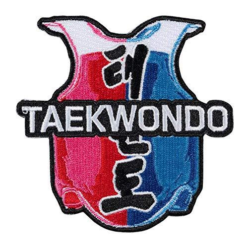 Playwell Martial Arts Bestickt Abzeichen - Taekwondo Tkd Weste Patch (Taekwondo Patch Uniform)