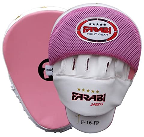 Boxing focus pads hook & jab Mitts boxing training pads mma kickboxing pad made of genuine leather
