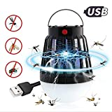 Teepao Solar Bug Zapper & USB Powered with LED Camping Lamp, 2 In