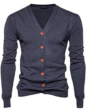 Hombre Chaqueta Punto Cárdigan Manga Larga Suéter Jersey para
