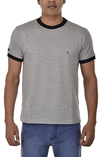 Solid Round Neck Half Sleeves Slim Fit Grey Cotton T-Shirt for Men Stylish Wear, Daily Wear, Casual Wear  available at amazon for Rs.299