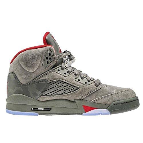 Nike Herrenschuhe Air Jordan 5 Retro GS in Dunkelbraunem Wildleder 440888-051 -