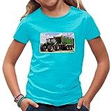Traktoren Kinder T-Shirt - Traktor Deutz mit Hänger by Im-Shirt - Azurblau Kinder 5-6 Jahre