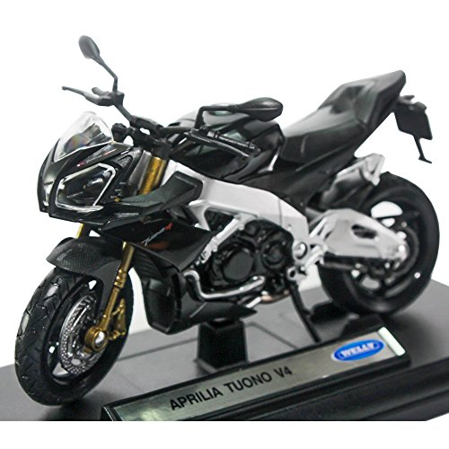 Tuoni the best amazon price in savemoney welly 118 die cast aprilia tuono v4 motorcycle black color model collection fandeluxe Image collections