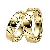 CORE by Schumann Design Trauringe Eheringe aus 585 Gold Gelbgold mit echten Diamanten Gratis Testringservice & Gravur 19006677